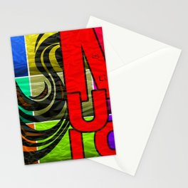 Music is my Life Pop-art Motif Stationery Cards
