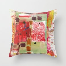 Stapled Together Throw Pillow