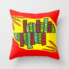 Ginevra's double city Throw Pillow