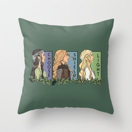Fantasy She Series Collage Throw Pillow