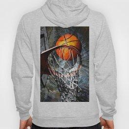 Basketball art print swoosh 116 - Basketball artwork design Hoody