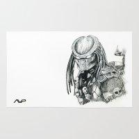 predator Area & Throw Rugs featuring Predator. by Gary Barling