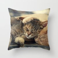 friendship Throw Pillows featuring Friendship by Ellen van Deelen