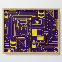 Art Supplies - Eggplant and Yellow Serving Tray