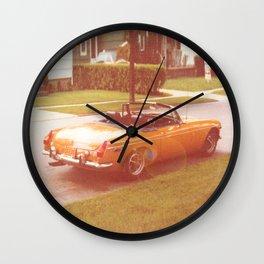 Tangerine Speedo Wall Clock