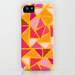 triangles yellow iPhone Case
