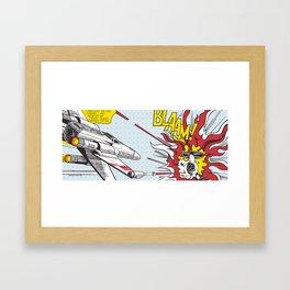 X Whaam Framed Art Print