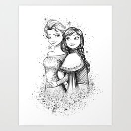 Do You Want To Build A Snowman Art Print