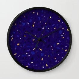 Blue Terrazzo Pattern Wall Clock