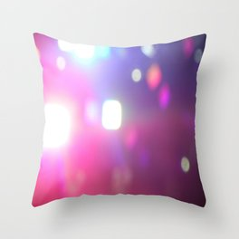 Concert Lights Throw Pillow