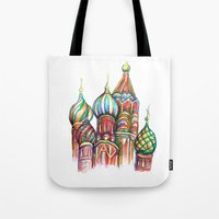 russia Tote Bags featuring Russia by Lam Designs