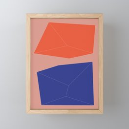 Minimal Geometry No. 10 Framed Mini Art Print