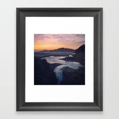 Riverbend 2 (Square) Framed Art Print