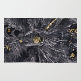 Black relief Rug