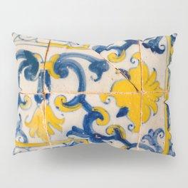 Portuguese azulejos, city of Ericeira Pillow Sham