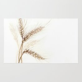 Wheat (Watercolor painting) Rug
