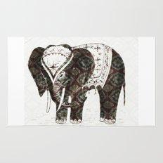 Festive Elephant love Rug