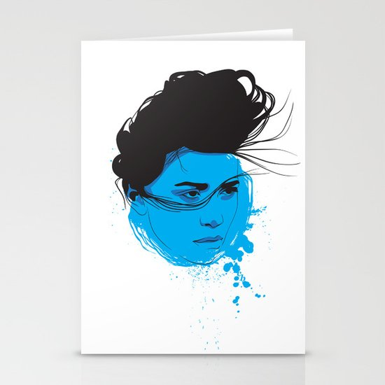 Black, blue & white I Stationery Cards