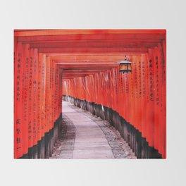 Through the Gates (Kyoto, Japan) Throw Blanket