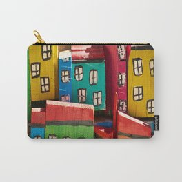 Painted Wooden Planks - Houses Carry-All Pouch