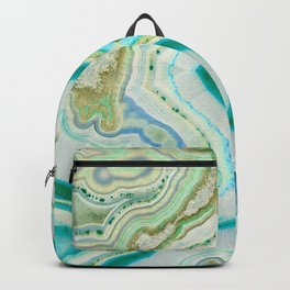 Sea Spray Crystal Agate Slice Backpack