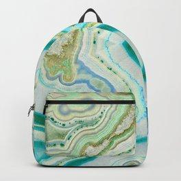Sea Spray Crystal Agate Slice Backpack