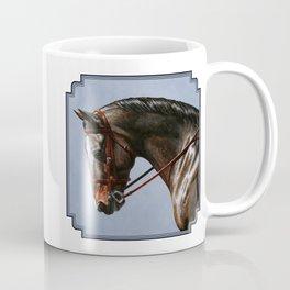Brown Dressage Horse Coffee Mug