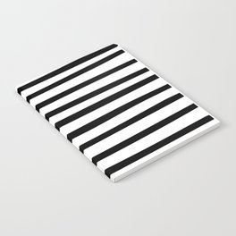 Black and White Hand Drawn Stripes Notebook