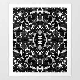 Street Wall black & white 1 Art Print