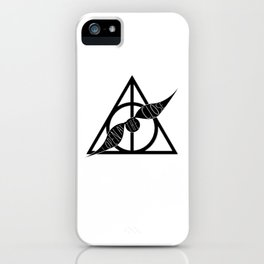 I Open At The Close Deathly Hallows Snitch iPhone Case