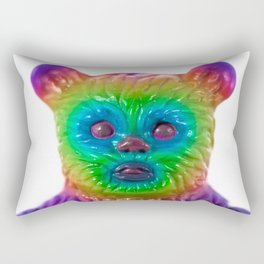 Neon Bear Rectangular Pillow