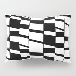 Slanting Rectangles - Black and White Graphic Art by Menega Sabidussi Pillow Sham