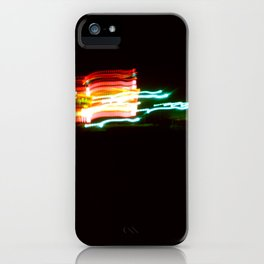 Night Lights Santa Monica Holiday Inn iPhone Case