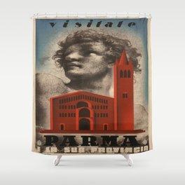 Vintage poster - Parma Shower Curtain