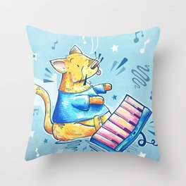 Keyboard Cat Says Thank You Throw Pillow