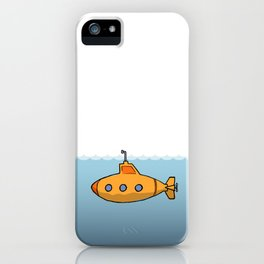 A submarine for exploring iPhone Case