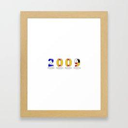 2009 - NAVY - My Year of Birth Framed Art Print