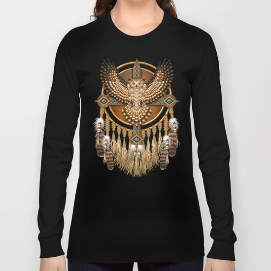 Native American-Style Great Horned Owl Mandala by naumaddicarts