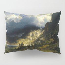 Albert Bierstadt - A Storm in the Rocky Mountains, Mt. Rosalie Pillow Sham