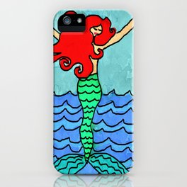 Mermaid Rising from the Sea Abstract Digital Painting iPhone Case