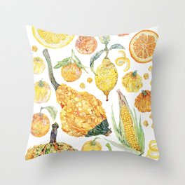 Harvest of Yellow Throw Pillow