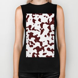 Large Spots - White and Bulgarian Rose Red Biker Tank