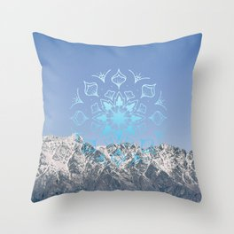 Snow Topped Remarkables Throw Pillow