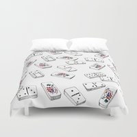puerto rico Duvet Covers featuring Dominos de Puerto Rico by A Different Place and Time
