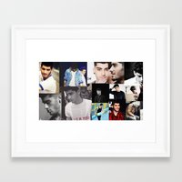 zayn malik Framed Art Prints featuring Zayn Malik  by Saron