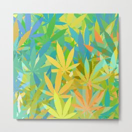 Marijuana Cannabis Weed Pot Summer Theme Metal Print
