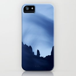 Mont Blanc Massif at night iPhone Case