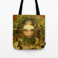pagan Tote Bags featuring Pagan by Charlie Terrell