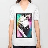 car V-neck T-shirts featuring Car by Drexler3