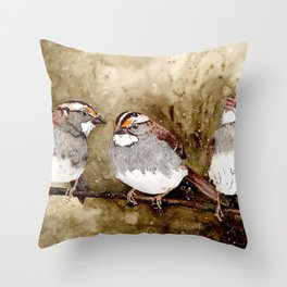 White-throated Sparrows Throw Pillow